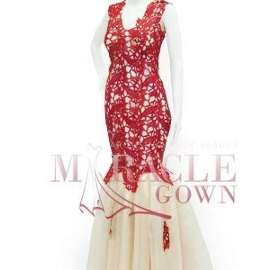 Sewa Gaun Surabaya - Miracle Gown - Alluring red mermaid gown