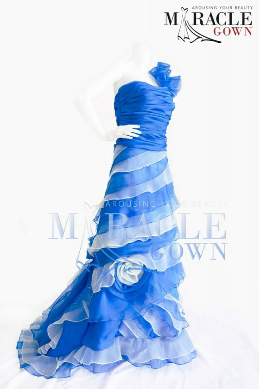 Sewa Gaun Surabaya - Miracle Gown - Azulate Arruffare with Rose Barlume