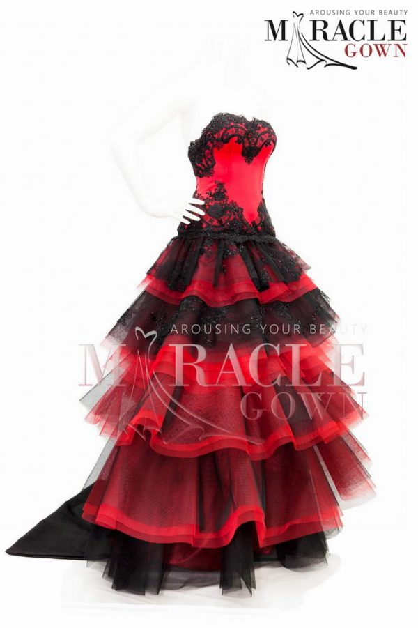 Sewa Gaun Surabaya - Miracle Gown - Black and Red Victorian Dress