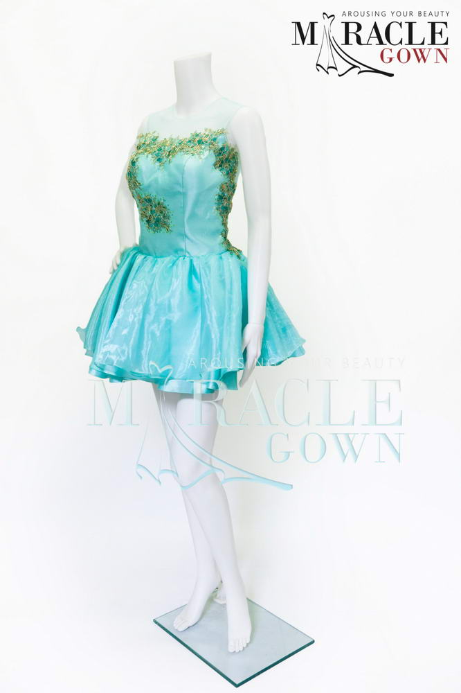 Sewa Gaun Surabaya - Miracle Gown - Blue Ocean Seaweed Dress