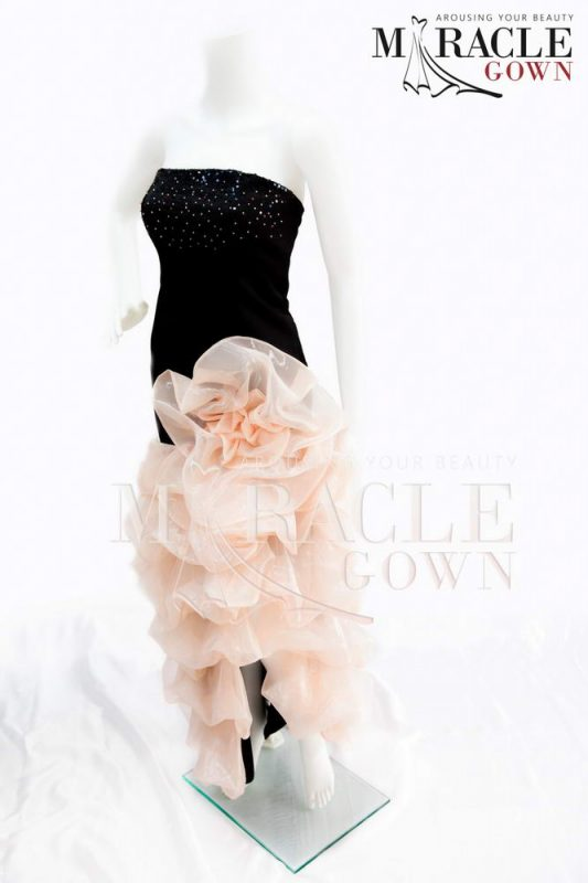 Sewa Gaun Surabaya - Miracle Gown - Diamons Eyes on Carnation Dazzle Gown