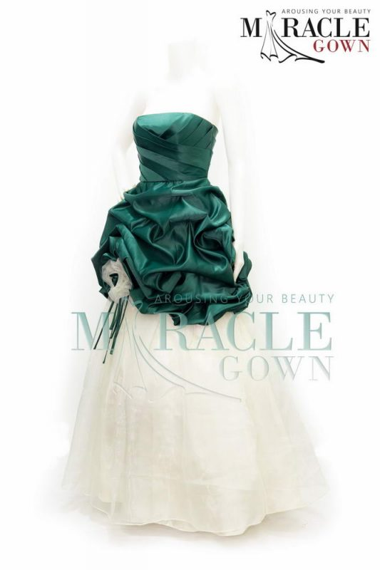 Sewa Gaun Surabaya - Miracle Gown - Green Meadow Rose Dress