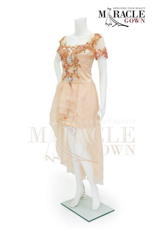 Sewa Gaun Surabaya - Miracle Gown - Lily diamond in dusty cinnamon