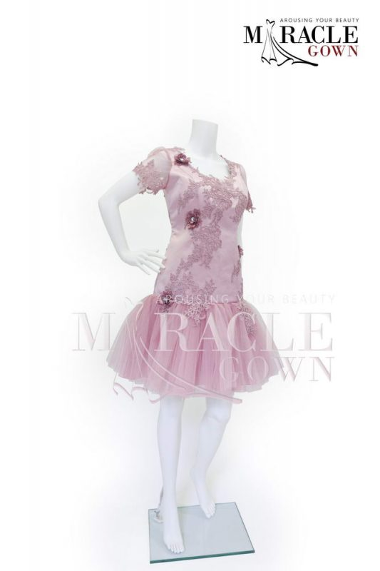 Sewa Gaun Surabaya - Miracle Gown - Misty rose brocade flourished