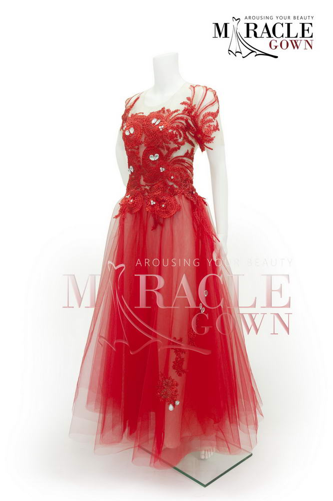 Sewa Gaun Surabaya - Miracle Gown - Royal red orient dress