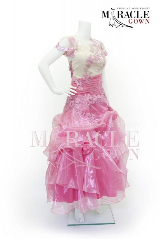 Sewa Gaun Surabaya - Miracle Gown - Tea rose plump dress