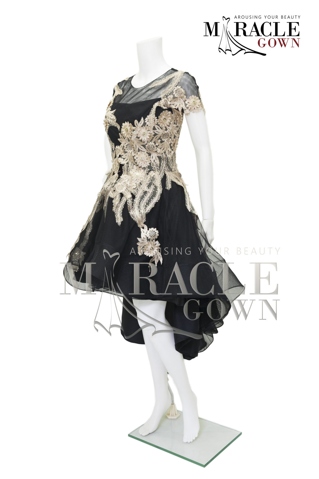 Sewa Gaun Surabaya - Miracle Gown - The black and gold assembly