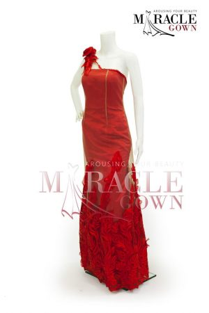 Sewa Gaun Surabaya - Miracle Gown - The fire flower in beige chiffon