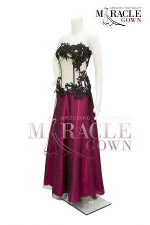 Sewa Gaun Surabaya - Miracle Gown - The red wine victorian brocade