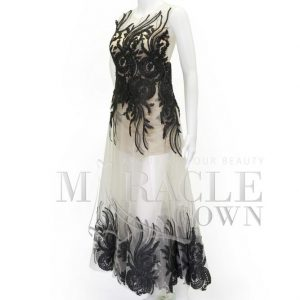 Sewa Gaun Surabaya - Miracle Gown - Two tone black brocade dress