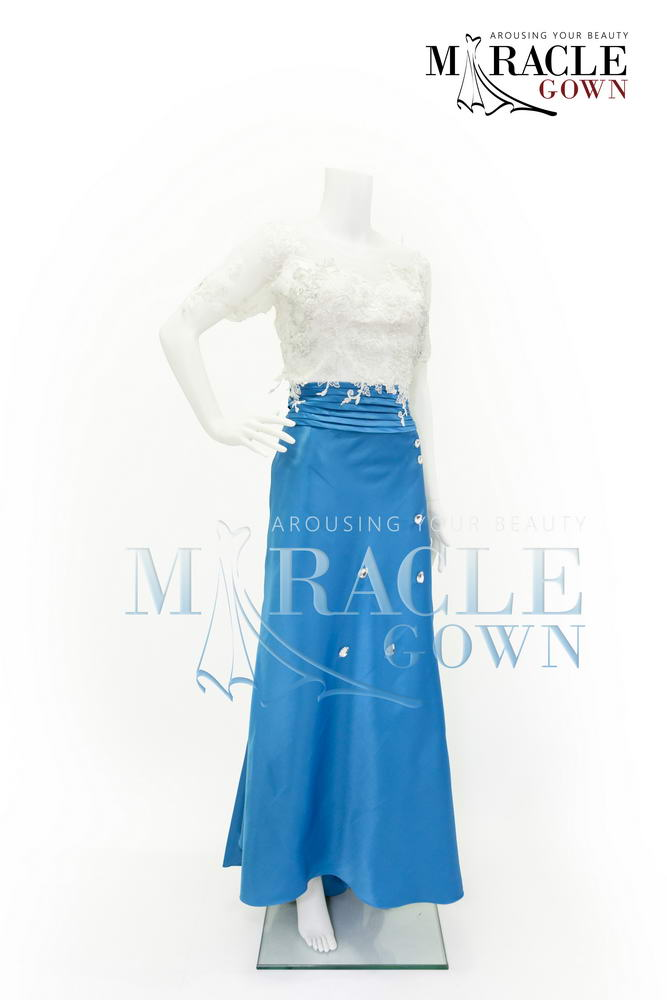 Sewa Gaun Surabaya - Miracle Gown - Whispering Blue Sequined Gown