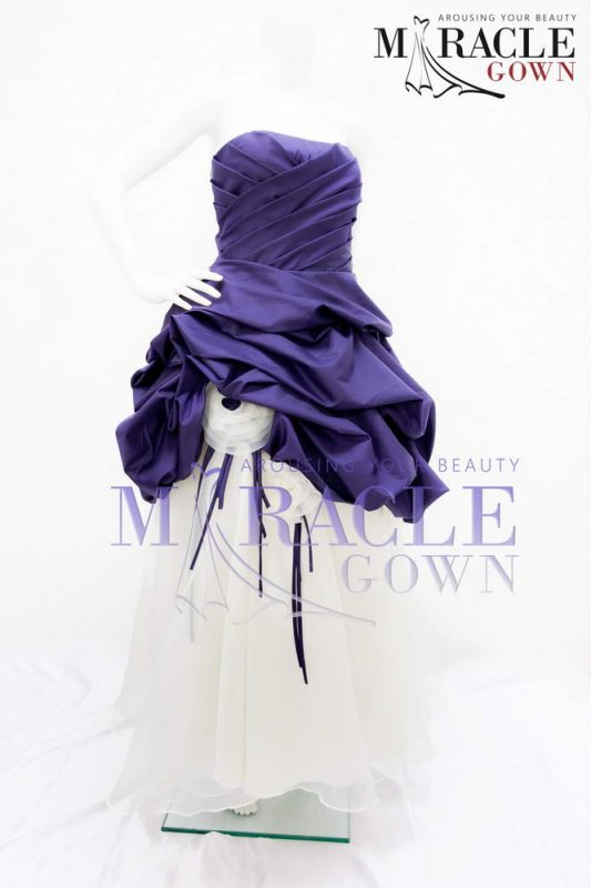 Sewa Gaun Surabaya - Violet Orchid Stripped Dress