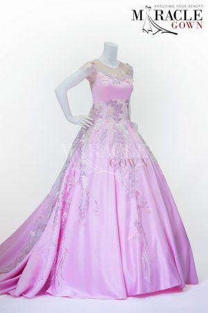 Sewa Gaun Surabaya - Miracle Gown - Spring rain flowers on tulle gown