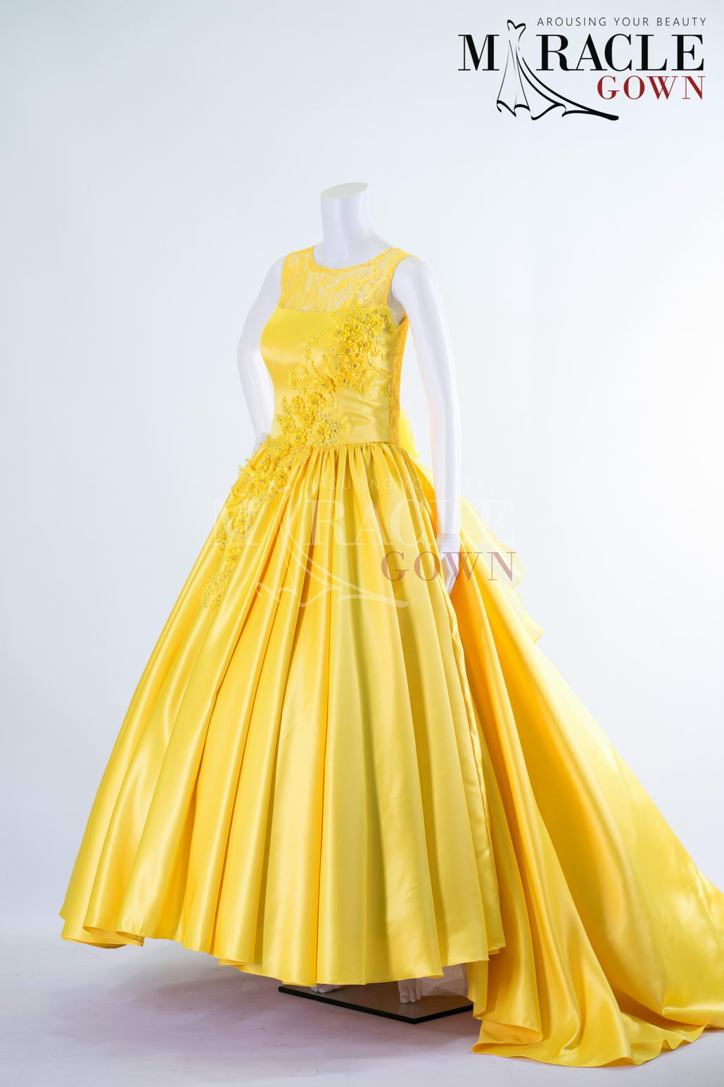Sewa Gaun Surabaya - Miracle Gown - The golden yellow embellishment