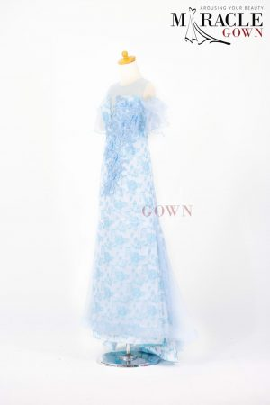 Sewa Gaun Surabaya - Miracle Gown - Baby Blue Off Shoulder
