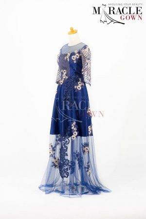 Sewa Gaun Surabaya - Miracle Gown - Blooming Blue Dress