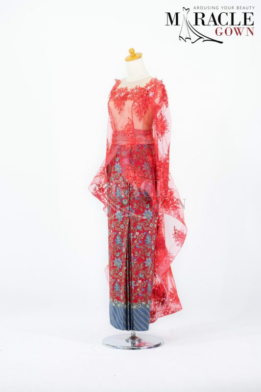 Sewa Gaun Surabaya - Miracle Gown - Etiquette Red Long Dress