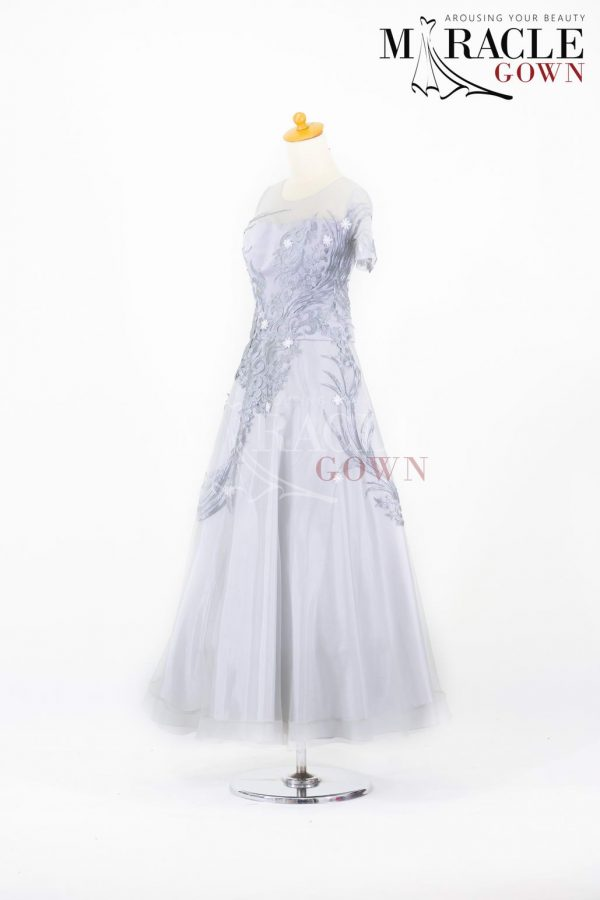 Sewa Gaun Surabaya - Miracle Gown - Silver Coin Long Dress