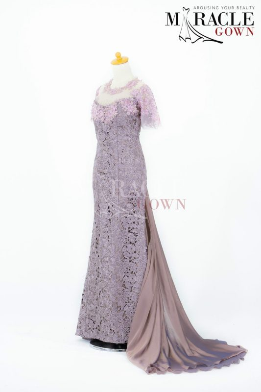 Sewa Gaun Surabaya - Miracle Gown - Thousand Flower Opera Mauve