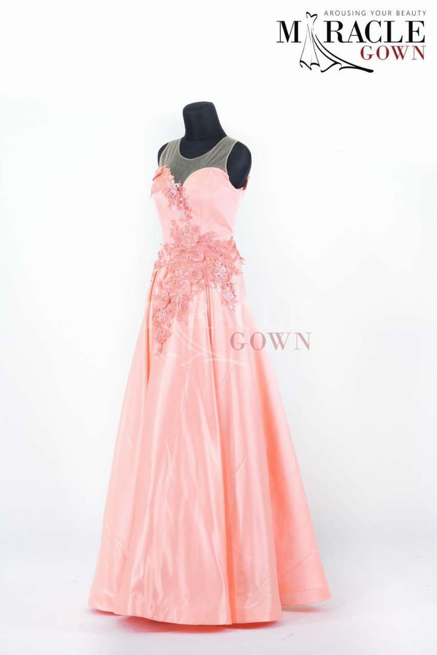 Charming Peach Long Prom Dress
