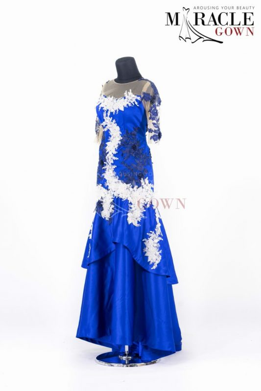 Royal Blue low waist Double Layer