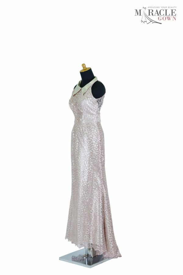 Sewa Gaun Surabaya - Miracle Gown - Deadly silver hexagonal mermaid dress