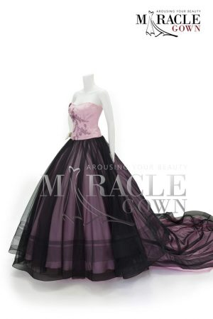 Sewa Gaun Surabaya - Miracle Gown Couture 2015 - The blush pink ball gown wrapped in black