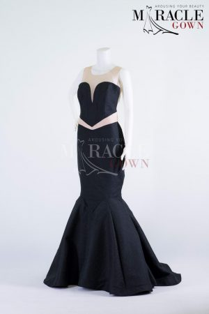 Sewa Gaun Surabaya - Miracle Gown - Strapless Dark Mermaid Gown With Pleats