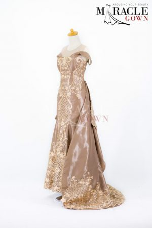 Sewa Gaun Surabaya - Miracle Gown - Regina Biscotti Dress
