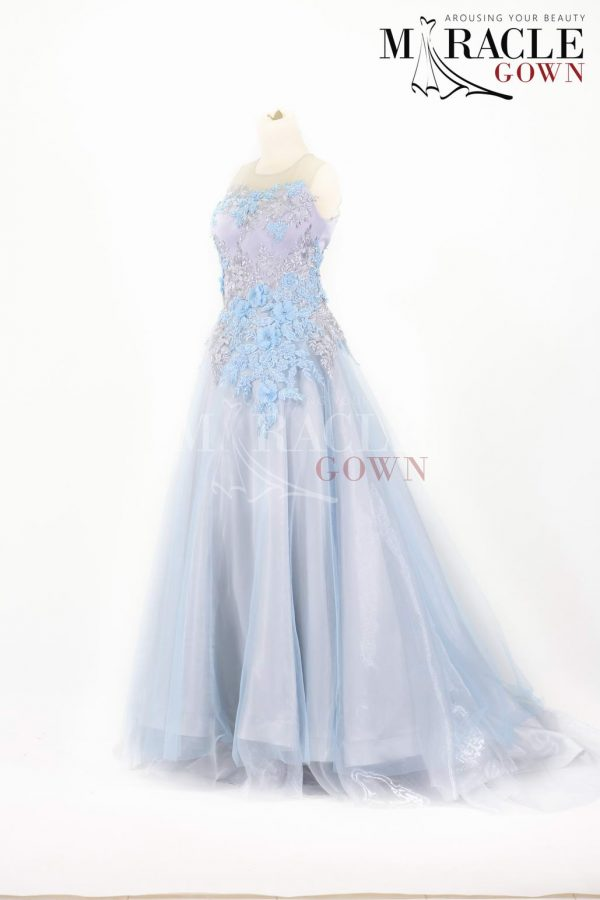 Sewa Gaun Surabaya - Miracle Gown - Young Lady Baby Blue