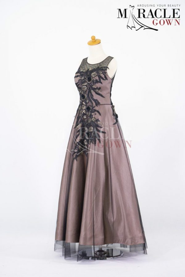 Gorgeous brown with floral Applique