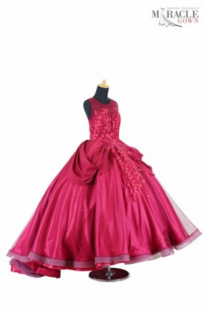 Sewa Gaun Surabaya - Miracle Gown - Princess court train tulle quinceanera