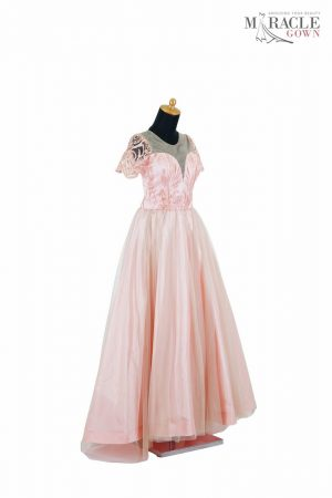 Sewa Gaun Surabaya - Miracle Gown - luxurious blush bridesmaid dresses