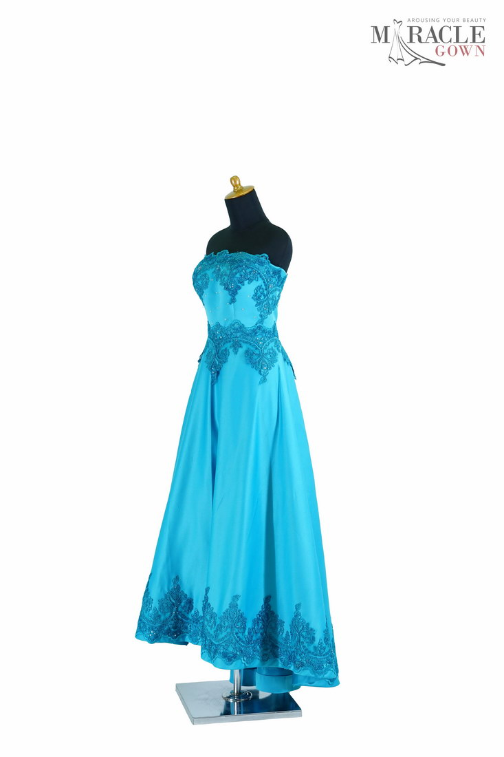 The Deep Blue Sky High Low Homecoming Dress Miracle Gown Jahit